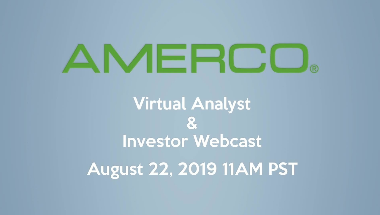 2019 AMERCO Investor & Analyst Webcast