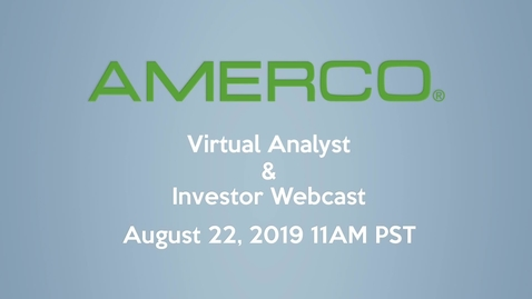 Thumbnail for entry 2019 AMERCO Investor & Analyst Webcast