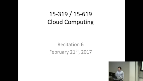 Thumbnail for entry Cloud Computing - 2/21/2017
