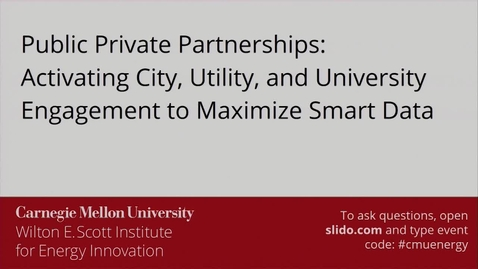 Thumbnail for entry Panel: Public Private Partnerships