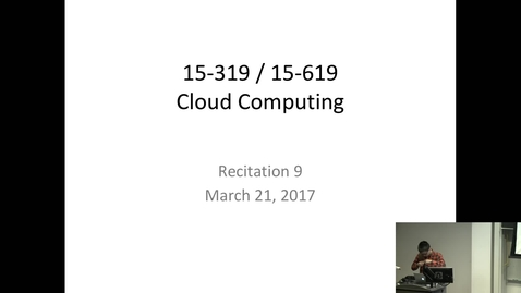 Thumbnail for entry Cloud Computing - 3/21/2017