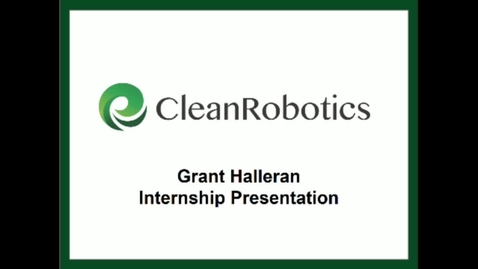 Thumbnail for entry Grant Halleran_CleanRobotics
