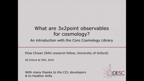 Thumbnail for entry 3x2point observables of cosmology