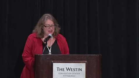 Thumbnail for entry NDSA - 10/25/17 - Bethany Introduction and Eira Tansey Keynote