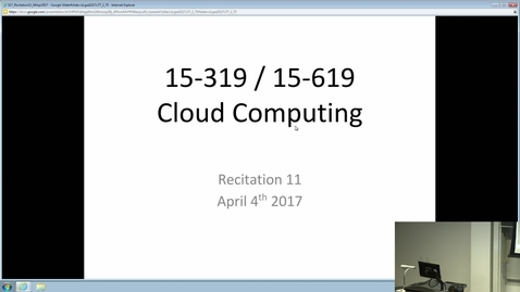 Thumbnail for entry Cloud Computing - 4/4/2017
