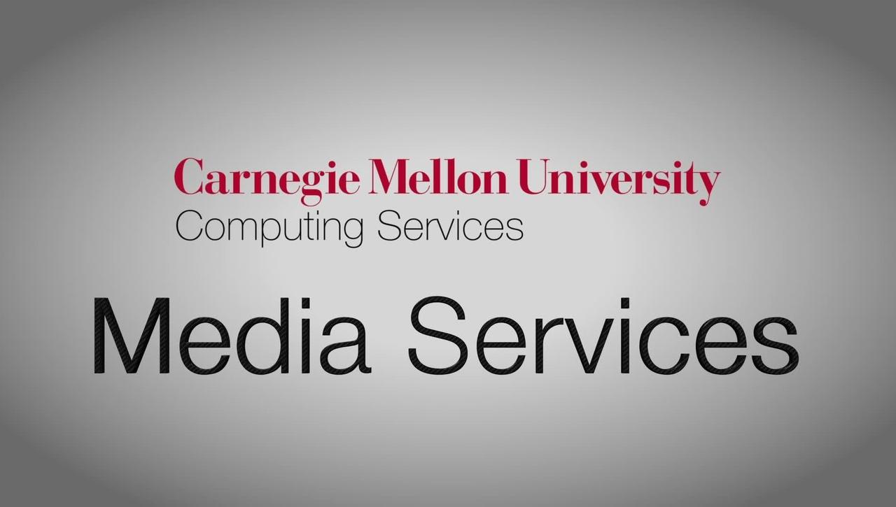 CMU Media Services Studio Showcase