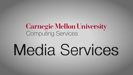 Thumbnail for entry CMU Media Services Studio Showcase