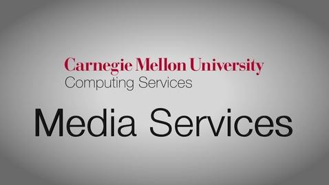 Thumbnail for entry CMU Media Services Studio Showcase