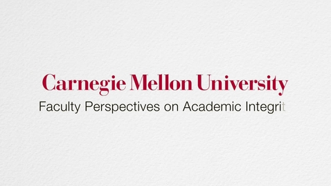 Thumbnail for entry Faculty Perspectives on Academic Integrity