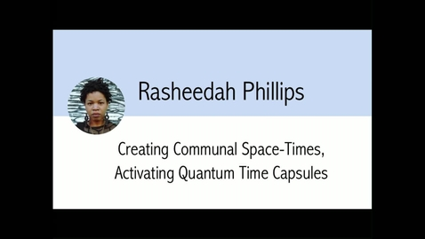 Thumbnail for entry Digital Library Federation - 10/23/17 - Rasheedah Phillips_With Intro