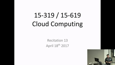 Thumbnail for entry Cloud Computing - 4/18/2017