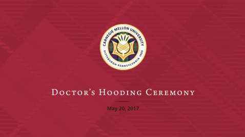 Thumbnail for entry Doctors Hooding Ceremony 2017