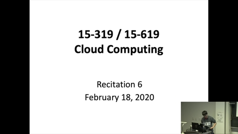 Thumbnail for entry Spring 2020 - Cloud Computing - 2/18/2020