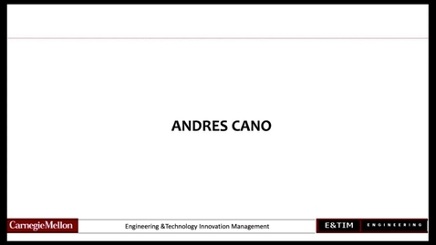 Thumbnail for entry E&TIM Seminar Internship Presentations  - Cano