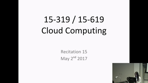 Thumbnail for entry Cloud Computing - 5/2/2017