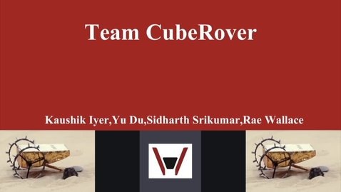 Thumbnail for entry E&TIM Seminar Internship Presentation - CubeRover