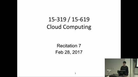 Thumbnail for entry Cloud Computing - 2/28/2017 Edit