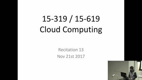 Thumbnail for entry Fall 2017 - Cloud Computing - 11/21/2017