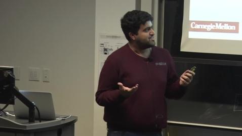 Thumbnail for entry E&TIM Seminar Internship Presentations  -Srikumar