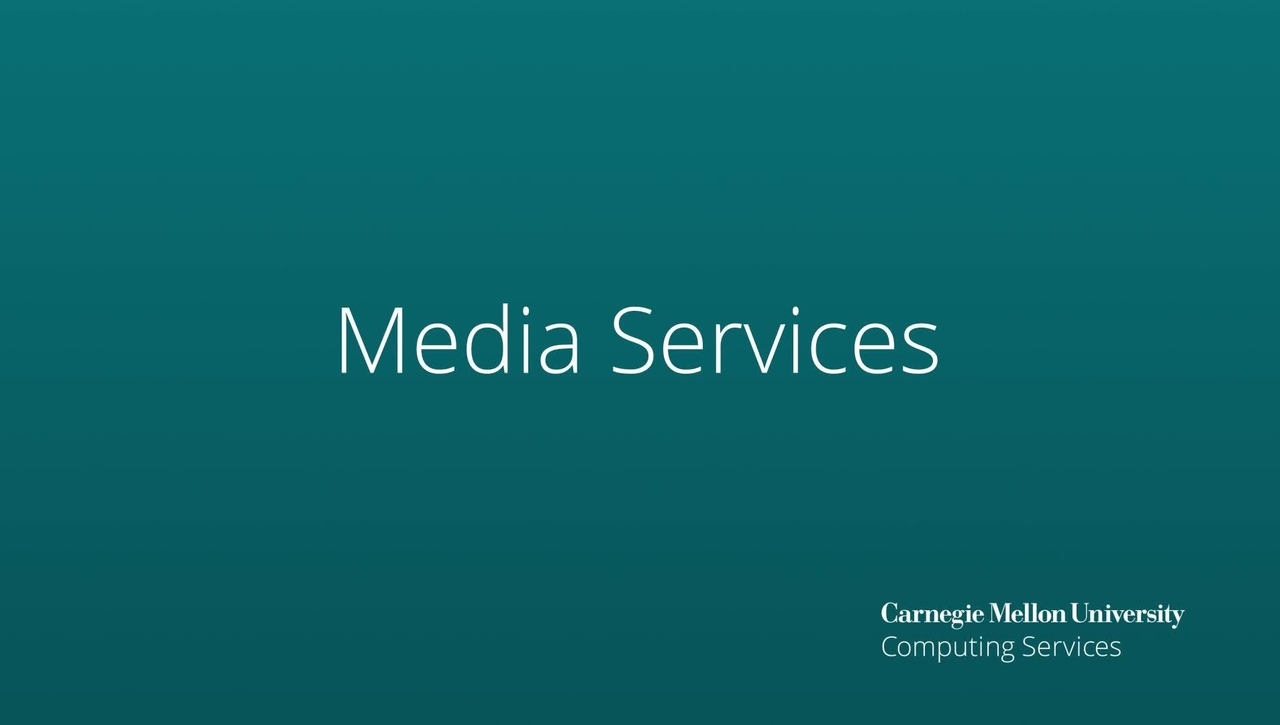 Media Services - New Services Spring 2021