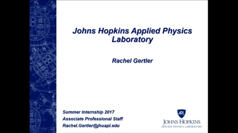 Thumbnail for entry Rachel Gertler_Johns Hopkins