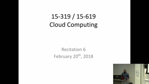 Thumbnail for entry Spring 2018 - Cloud Computing - 2/20/2018