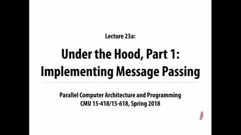 Thumbnail for entry Parallel Computer Architecture and Programming: Lecture 30 - 4-4-18
