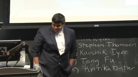 Thumbnail for entry E&TIM Seminar Internship Presentations - Kaushik