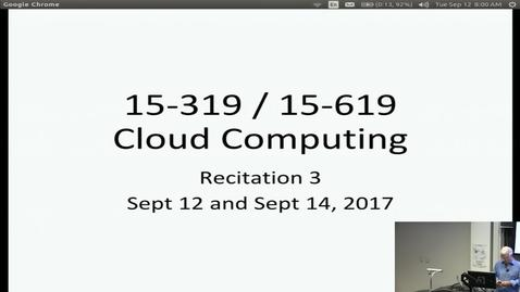 Thumbnail for entry Fall 2017 - Cloud Computing - 9/12/2017