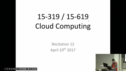 Thumbnail for entry Cloud Computing - 4/11/2017