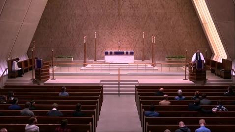 Thumbnail for entry Kramer Chapel Sermon - Thursday, April 11, 2019