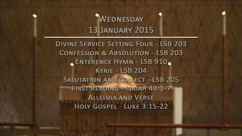 Thumbnail for entry Kramer Chapel Sermon - January 13, 2016