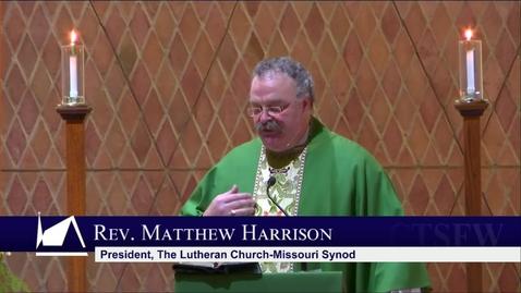 Thumbnail for entry Kramer Chapel Sermon - Wednesday, January 22, 2020