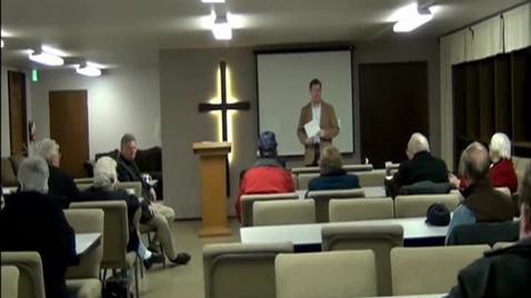 Thumbnail for entry Symposium at Peace Lutheran Church Jan 2012 Video 1