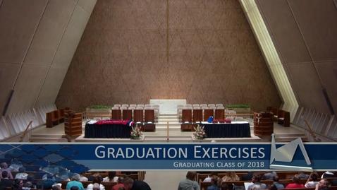 Thumbnail for entry 2018 Graduation Exercises