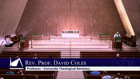 Thumbnail for entry Kramer Chapel Sermon - Thursday, July 11, 2019