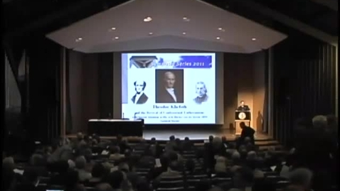 Thumbnail for entry Symposia 2011 - Theodore Kliefoth and the Revival of Confessional Lutheranism - Video
