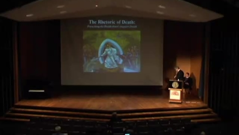 Thumbnail for entry The Rhetoric of Death: Preaching the Death that Conquers Death