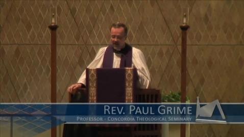 Thumbnail for entry Kramer Chapel Sermon - March 22, 2016