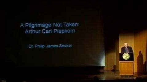 Thumbnail for entry A Pilgrimage not Taken: Arthur Carl Piepkorn