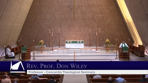 Thumbnail for entry Kramer Chapel Sermon - Monday, November 9, 2020