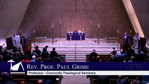 Thumbnail for entry Kramer Chapel Sermon - Wednesday, February 26, 2020