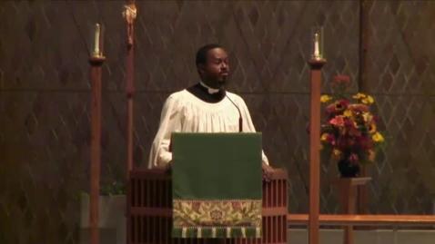 Thumbnail for entry Kramer Chapel Sermon - November 06, 2014