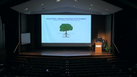 """Thumbnail for entry Werner Presentation - """"Sexual Purity: Getting to the Root of the Problem"""""""