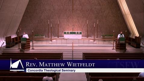 Thumbnail for entry Kramer Chapel Sermon - Monday, July 01, 2019