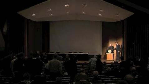 Thumbnail for entry Symposia 2013 - Presentation to Ben Mayes