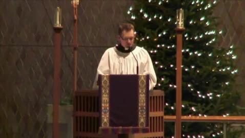 Thumbnail for entry Kramer Chapel Sermon - December 08, 2014