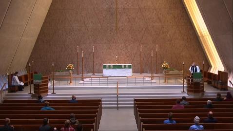 Thumbnail for entry Kramer Chapel Sermon - Thursday, November 12, 2020