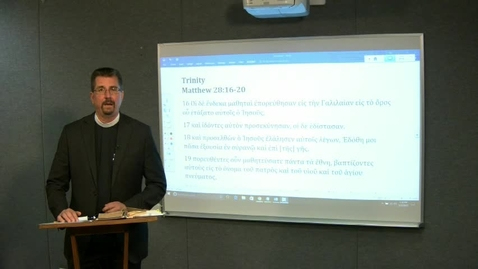 Thumbnail for entry Lectionary Podcast-Trinity Sunday-Series A-Gospel