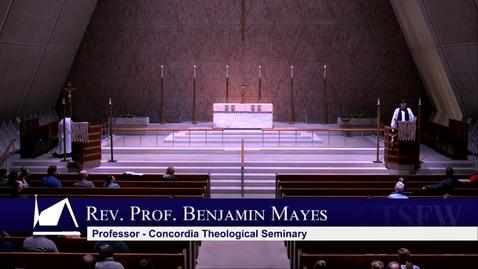 Thumbnail for entry Kramer Chapel Sermon - Tuesday, February 25, 2020